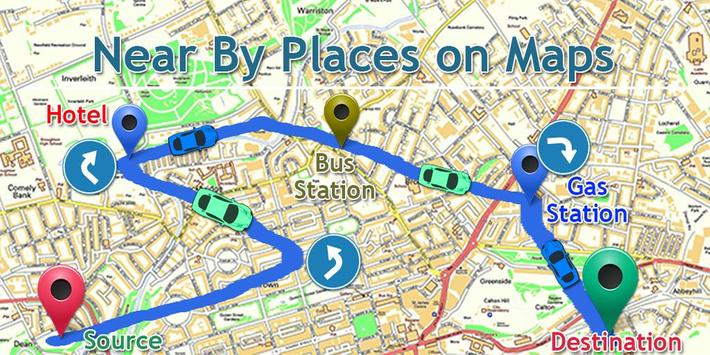 GPS Driving Route Finder - Near By Places on Maps apk screenshot