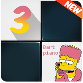 Bart Piano Tiles : Fire up 3 icon