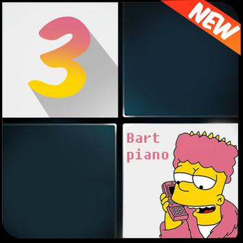 Bart Piano Tiles : Fire up 3 poster