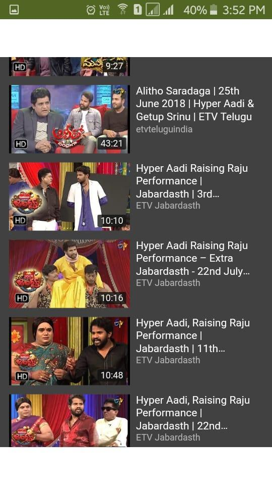 Jabardasth Hyper Aadi Most Funny Skits for Android - APK