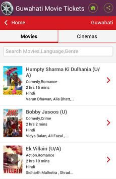 Guwahati Movie Tickets apk screenshot