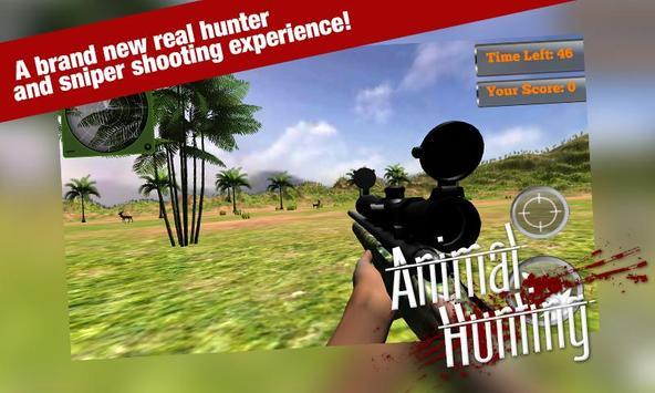 Animal Hunting Sniper Game 3D apk screenshot