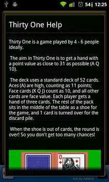 Thirty One - 31 (free) apk screenshot
