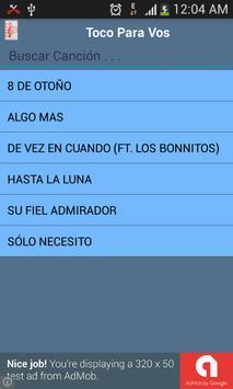 Toco Para Vos Some Lyrics screenshot 1
