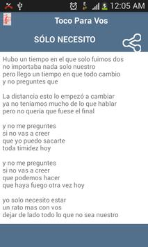 Toco Para Vos Some Lyrics screenshot 2