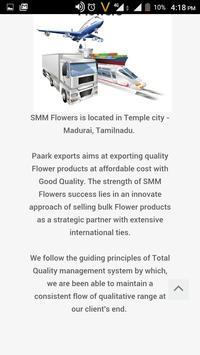 SMM Flowers Madurai apk screenshot