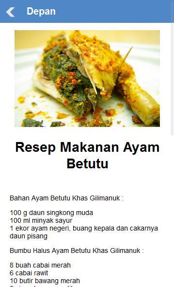 Resep Masakan Daerah Bali For Android Apk Download