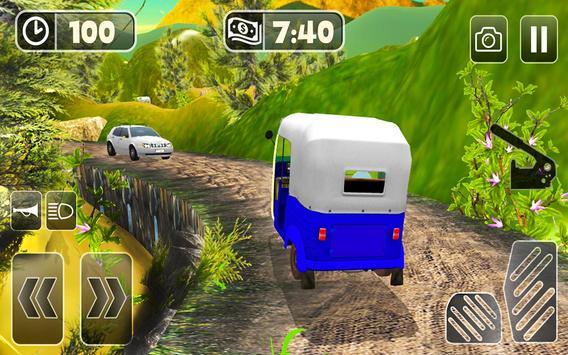 TukTuk Auto Rickshaw Simulator screenshot 9