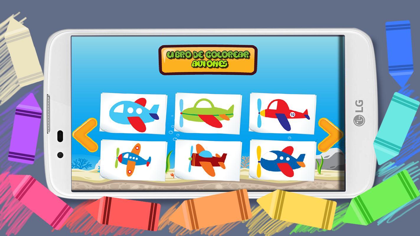 Libro para colorear - Aviones Descarga APK - Gratis Educativos Juego ...