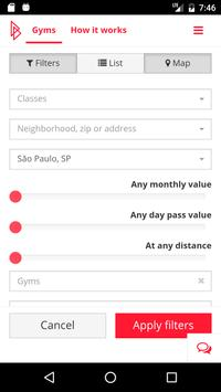 Gympass apk screenshot