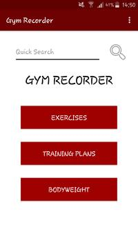 Simple Gym Recorder poster