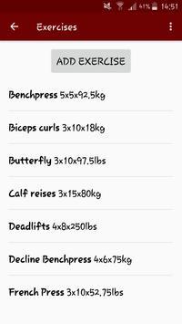 Simple Gym Recorder apk screenshot