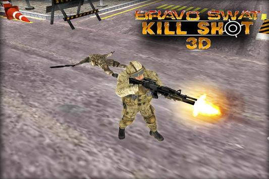 Bravo SWAT Kill Shot 3D Free poster