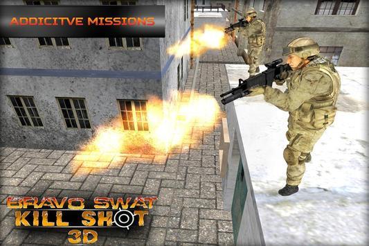 Bravo SWAT Kill Shot 3D Free screenshot 1