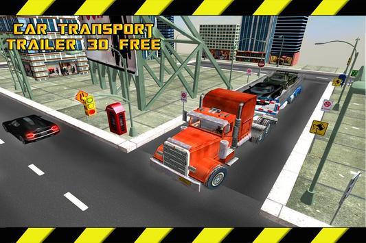 Car Transport Trailer 3D Free poster