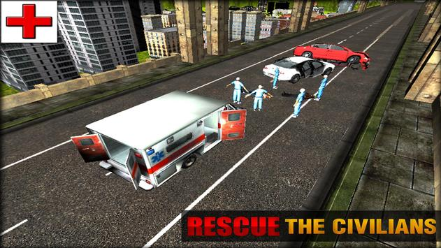 911 City Ambulance Rescue 3D apk screenshot
