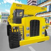 3D Construction Trucks Driver icon
