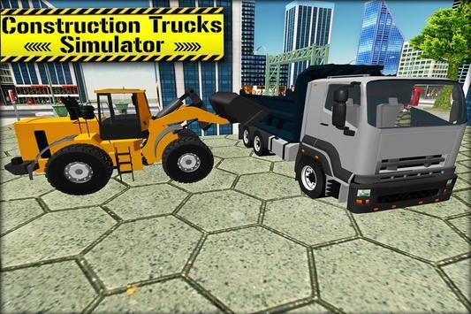 3D Construction Trucks Driver poster