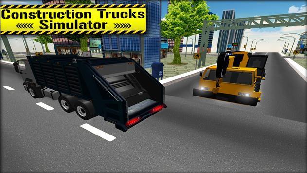 3D Construction Trucks Driver apk screenshot