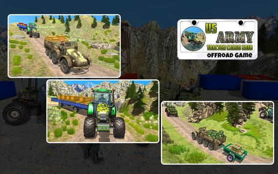 US Army Tractor Cargo 2018 – Offroad Game screenshot 5