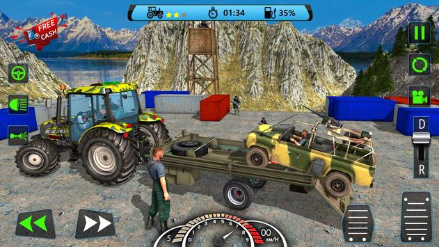 US Army Tractor Cargo 2018 – Offroad Game screenshot 6