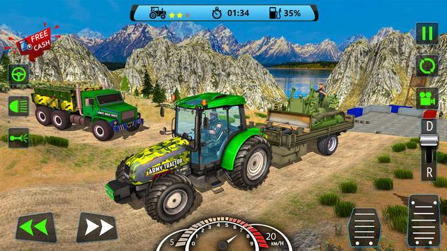 US Army Tractor Cargo 2018 – Offroad Game screenshot 7