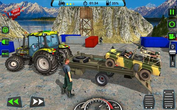 US Army Tractor Cargo 2018 – Offroad Game poster