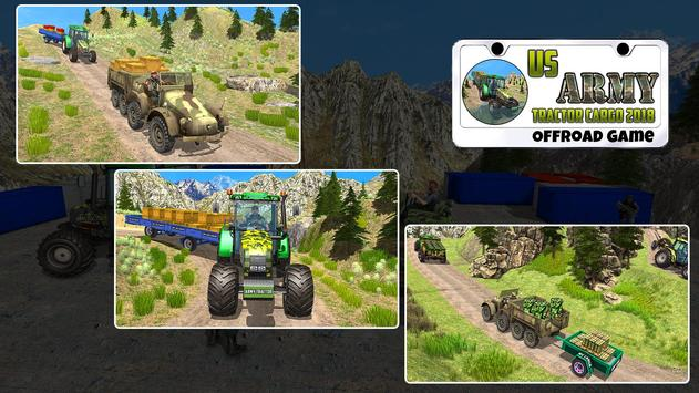 US Army Tractor Cargo 2018 – Offroad Game screenshot 11