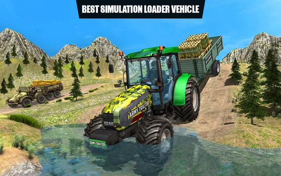 US Army Tractor Cargo 2018 – Offroad Game screenshot 16