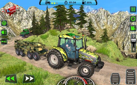 US Army Tractor Cargo 2018 – Offroad Game screenshot 2