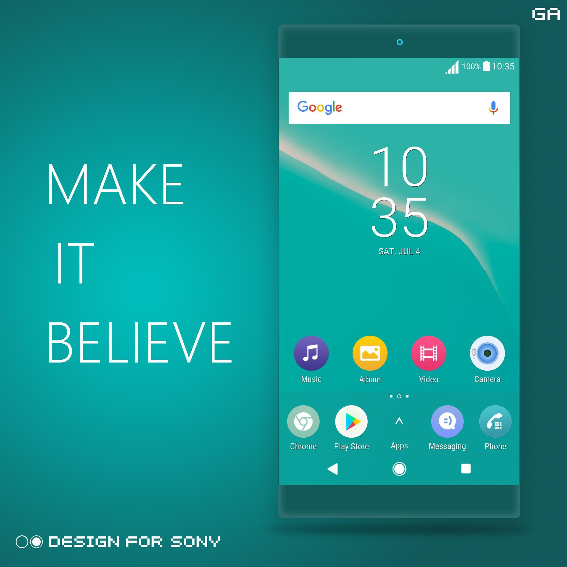 XPERIA ON™ | O Cyan Theme 🎨Design For SONY for Android - APK Download