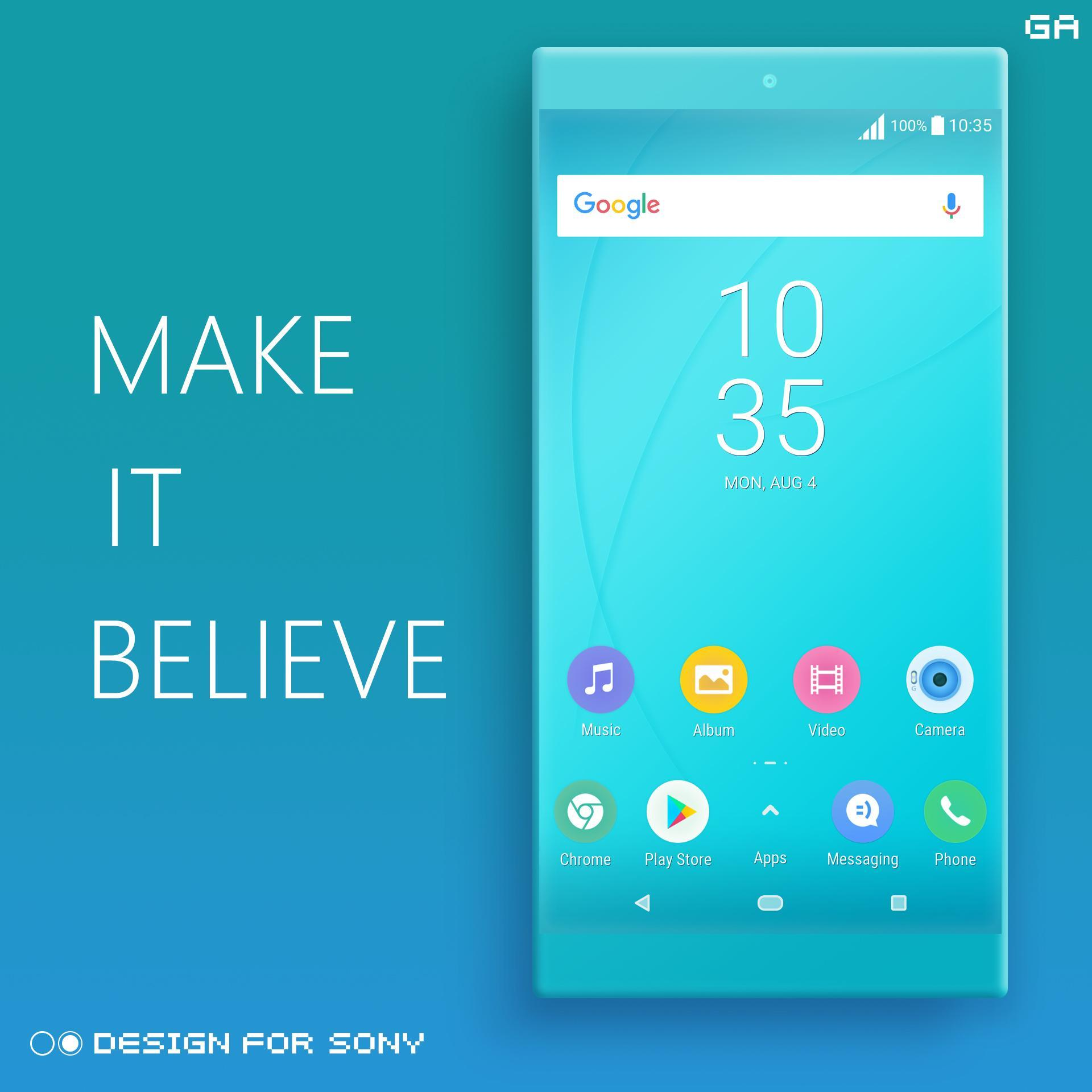 COLOR™ Theme | CYAN - Design For SONY 🎨 for Android - APK Download