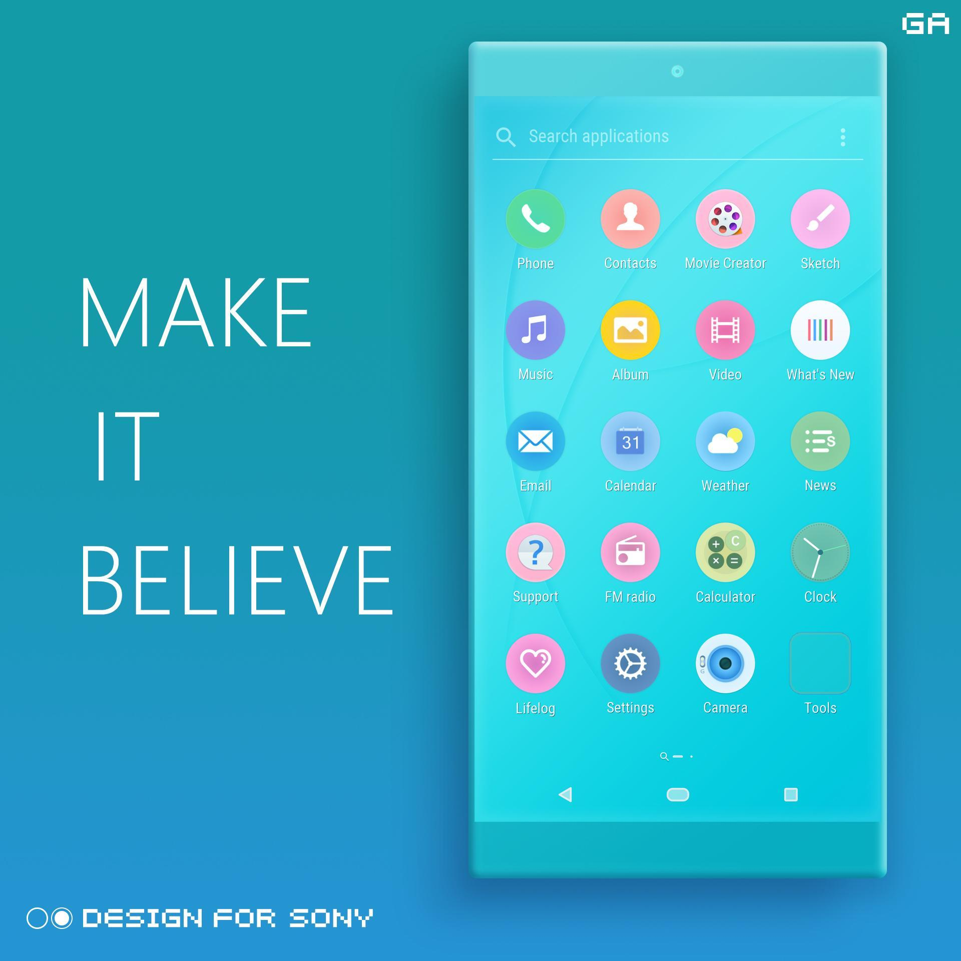 Phenomenal Color Theme Cyan Design For Sony For Android Apk Home Remodeling Inspirations Cosmcuboardxyz