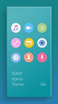 Theme XPERIA ON™ | Be Cyan - 🎨Design For SONY screenshot 1