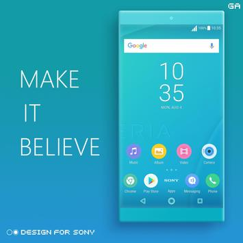 Theme XPERIA ON™ | Be Cyan - 🎨Design For SONY screenshot 4