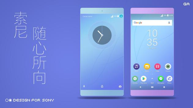 COLOR™ Theme | BLUE - Design For SONY 🎨 screenshot 1