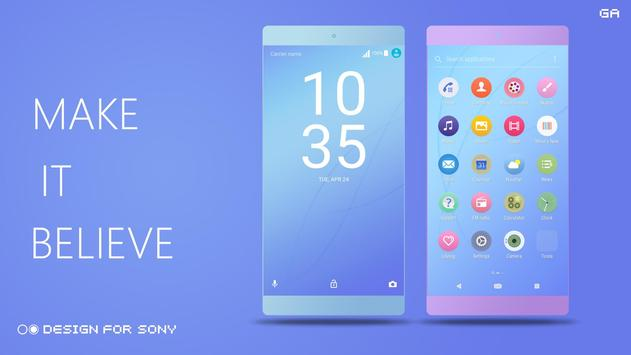 COLOR™ Theme | BLUE - Design For SONY 🎨 screenshot 2