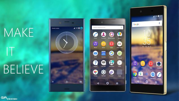 Theme XPERIA ON™ | Be Blue 2 apk screenshot