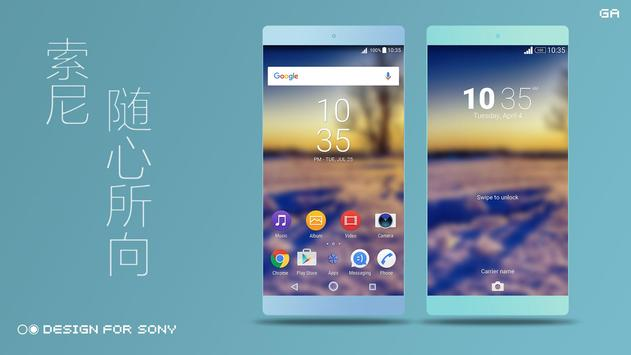 Theme XPERIA ON™   Be Blue poster