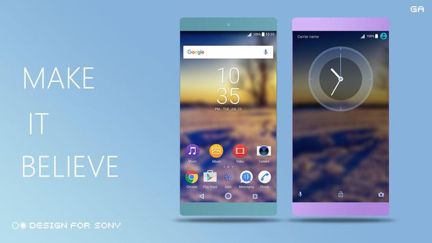 Theme XPERIA ON™   Be Blue apk screenshot