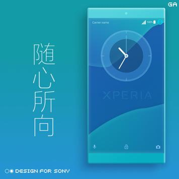 Theme XPERIA ON™ | Be Blue - 🎨Design For SONY screenshot 5