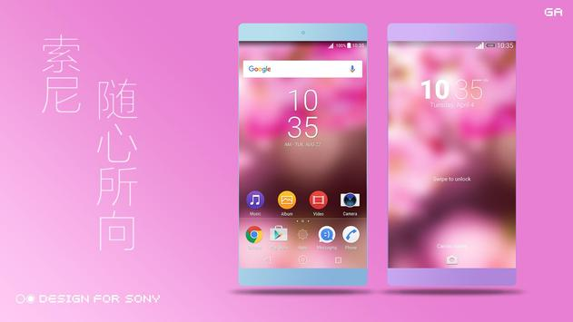 COLOR™ Theme | Red XPERIA poster
