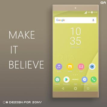 Theme XPERIA ON™ | Be Yellow - 🎨Design For SONY apk screenshot