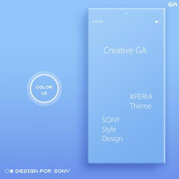 COLOR™ XPERIA Theme | BLUE-poster