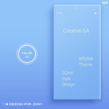 COLOR™ XPERIA Theme | BLUE poster