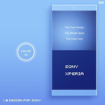 COLOR™ XPERIA Theme | BLUE screenshot 1