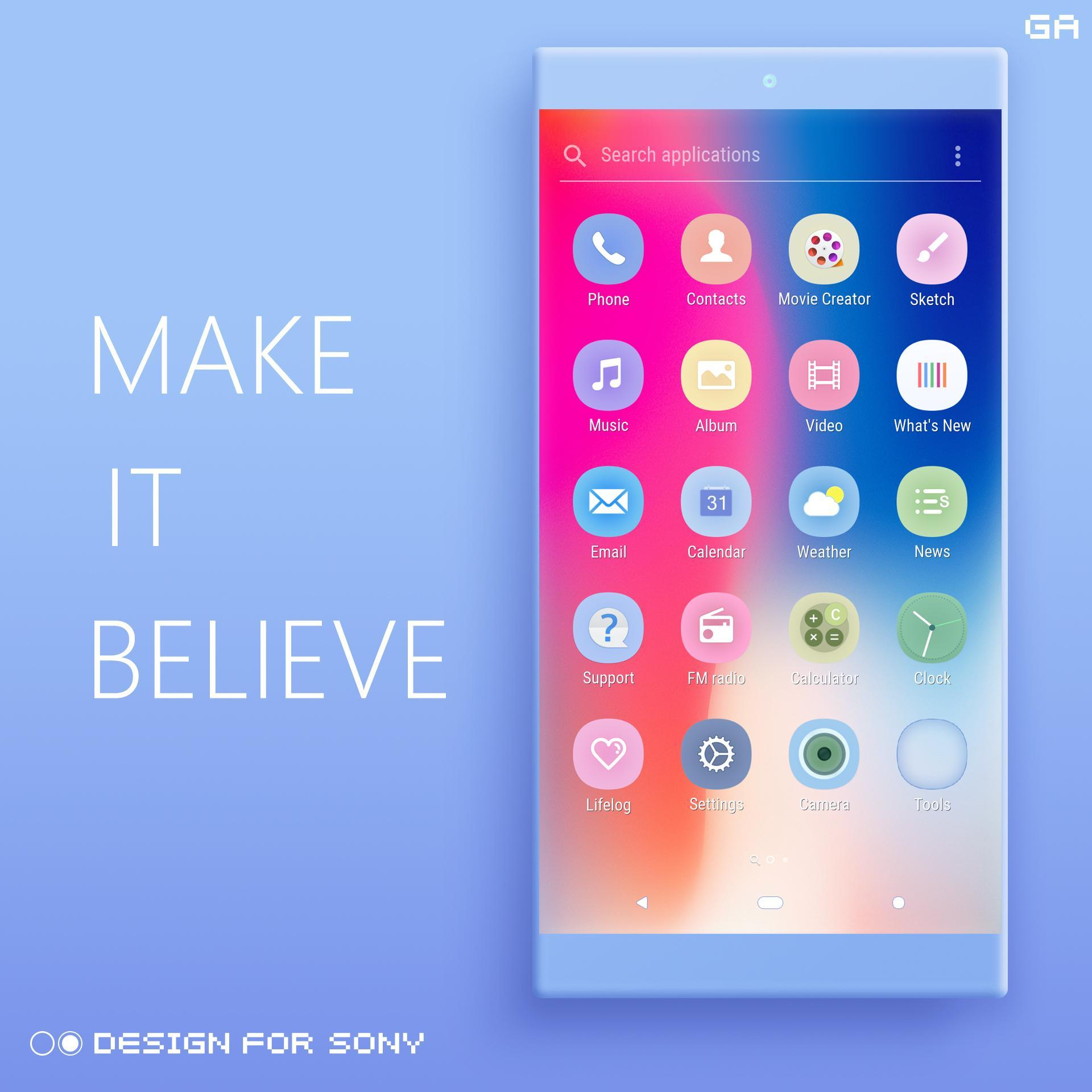 i XPERIA Theme | OS Style X 🎨Design For SONY for Android - APK Download