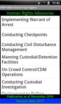 Philippine National Police Know Your Rights apk screenshot