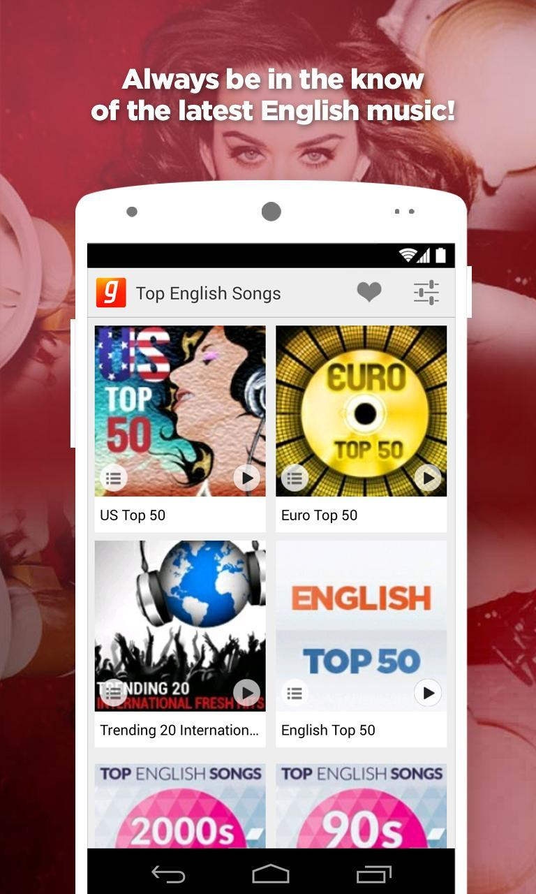 Top English Songs for Android - APK Download