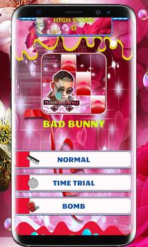 BAD BUNNY PIANO TILES poster